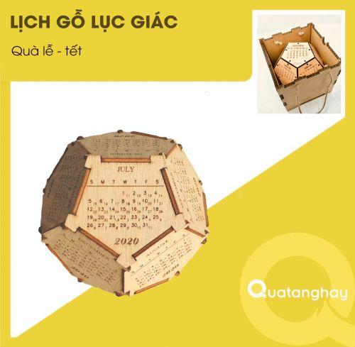 Lịch gỗ lục giác
