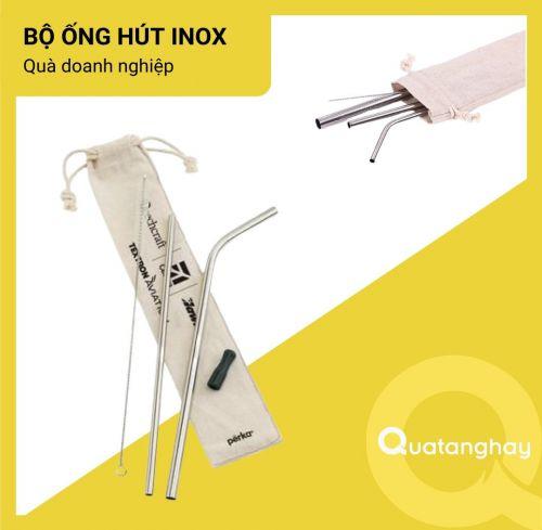Bộ ống hút Inox - Tặng phẩm bảo vệ môi truòng